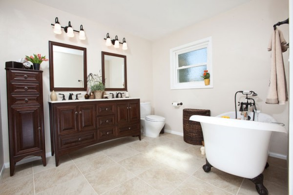 Comparing three bathrooms two modern amp one transitional