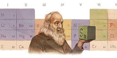Google celebrates Dmitri Mendeleev's 182nd Birthday