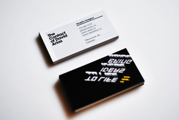 38 Business Cards of Designers In The Community - web designer business card