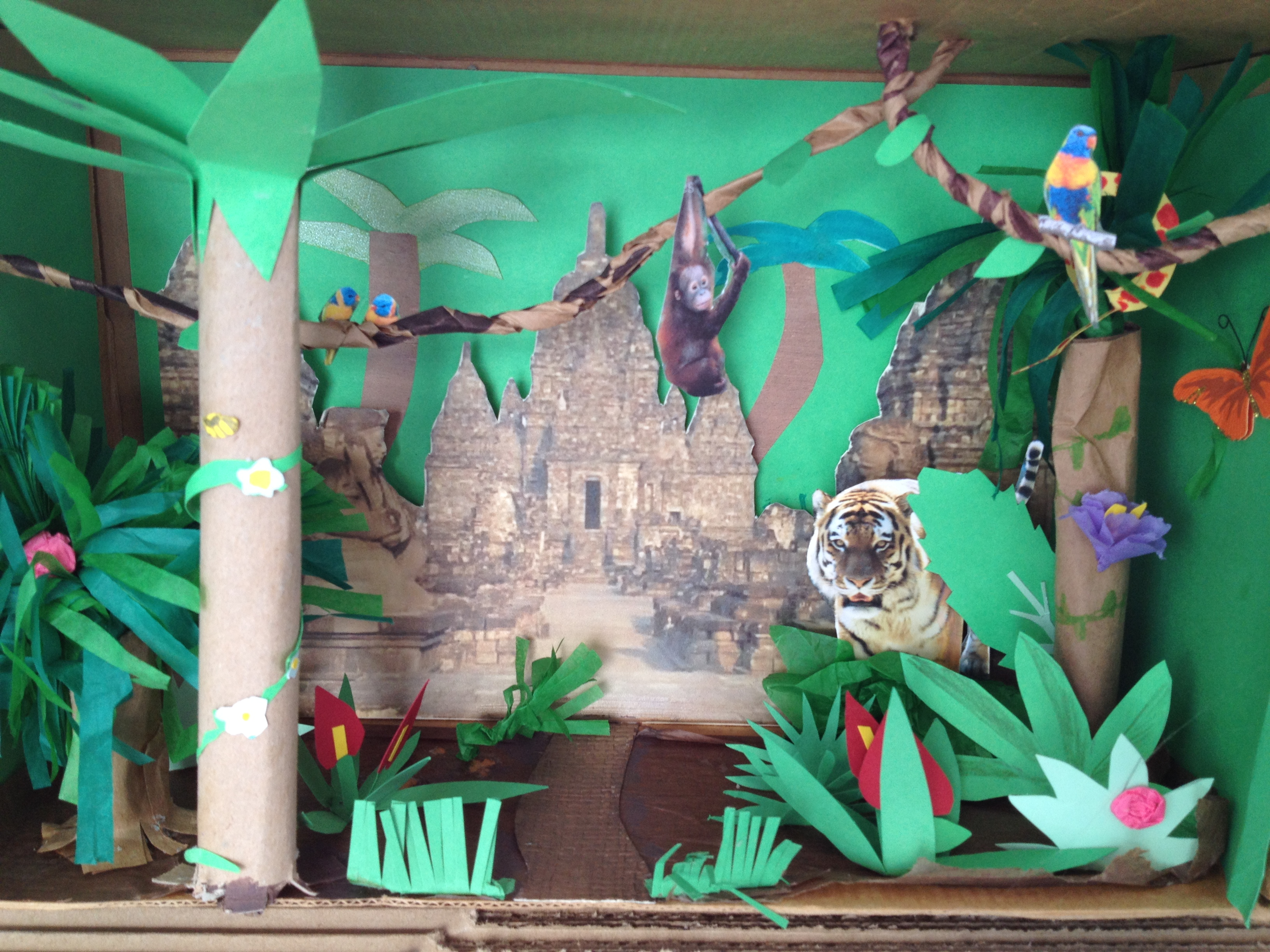A 4th Grade Jungle Diorama Onfindinghappy