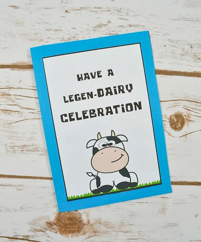 DIY Cow Birthday Card with FREE Printable - Onion Rings  Things
