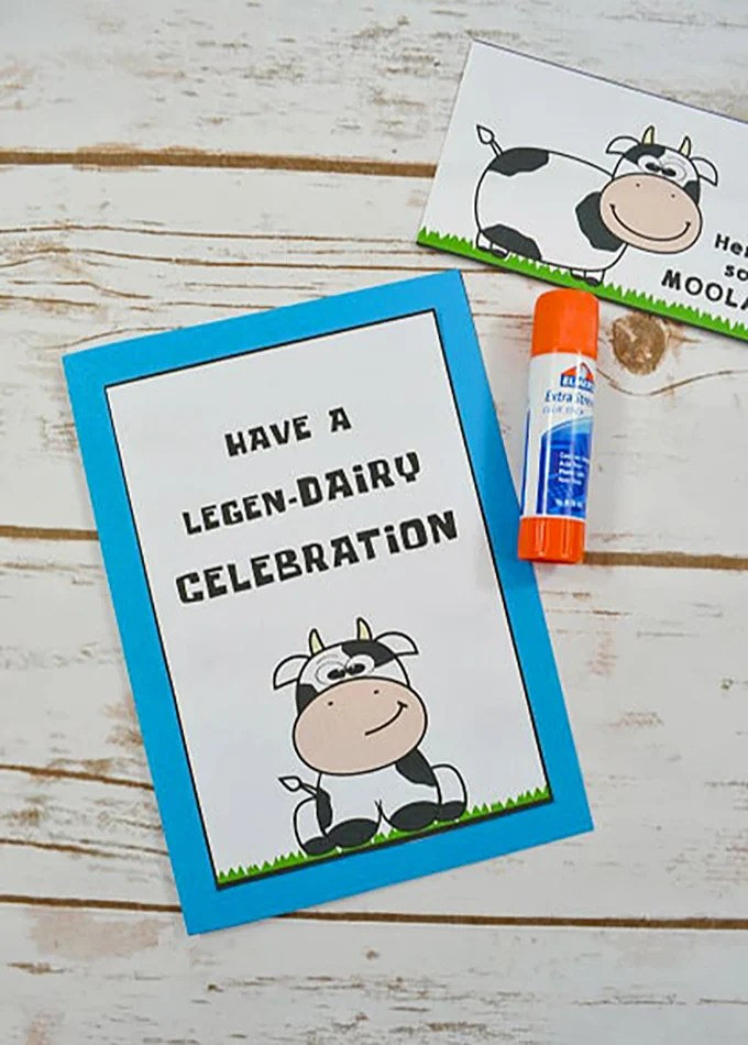 DIY Cow Birthday Card with FREE Printable - Onion Rings  Things - printable cardstock