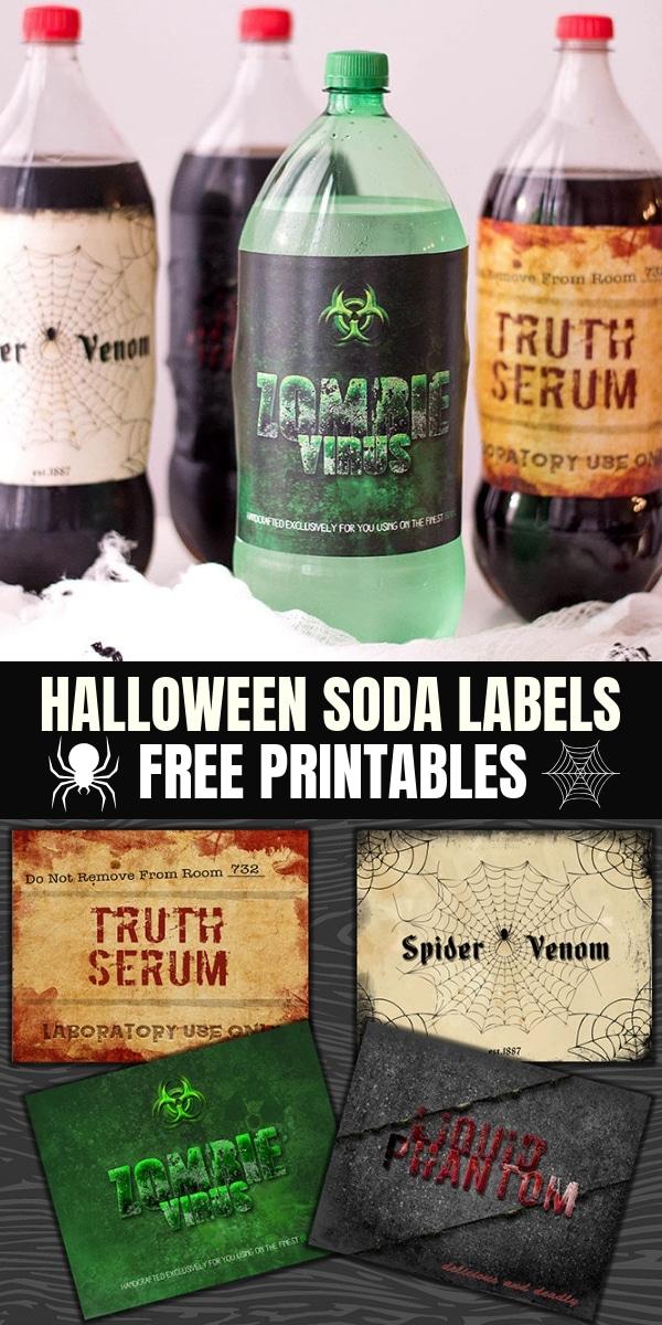 Halloween Soda Labels FREE Printables - Onion Rings  Things
