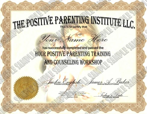 parenting class certificate of completion - class certificates template