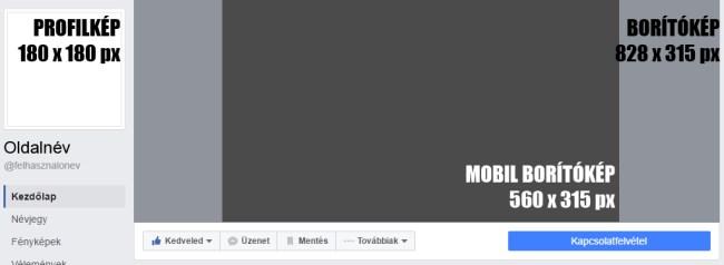 Facebook borítókép és profilkép méretek