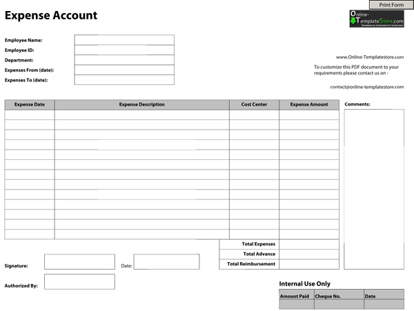 Free Templates Construction Templates - account form template