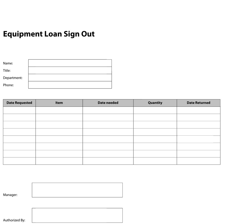 tool sign out sheet template
