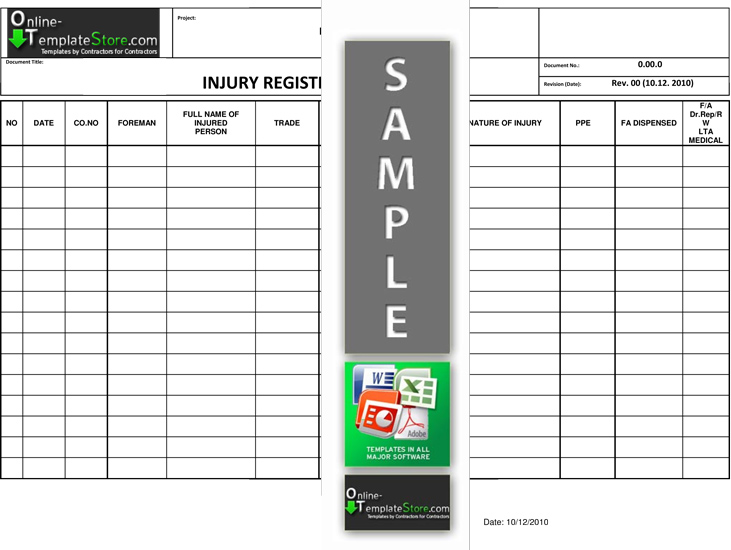 Health  Safety forms Construction Templates - audit form templates