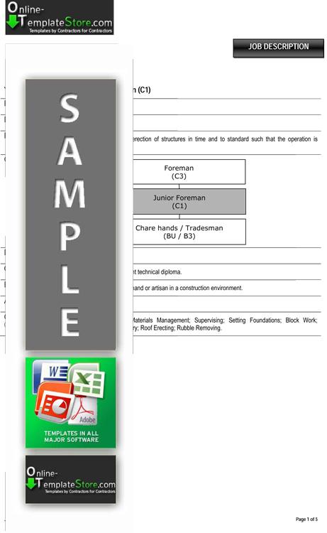 Human Resources templates Construction Templates