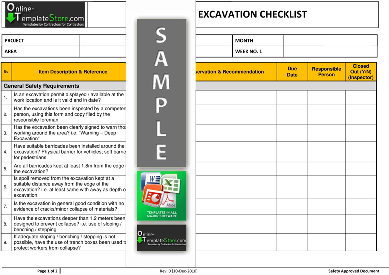 Health \ Safety forms Construction Templates - safety manual template