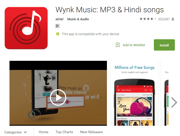 Wynk Music free music download