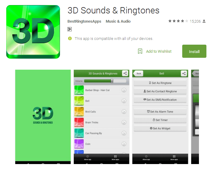 3D Sounds Ringtones Android Apps