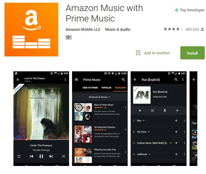 Amazon Music listen to music