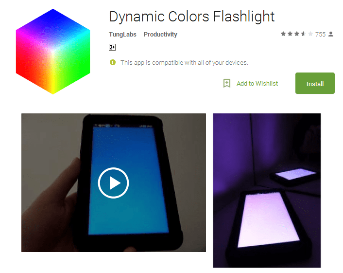 Dynamic Colors Flashlight