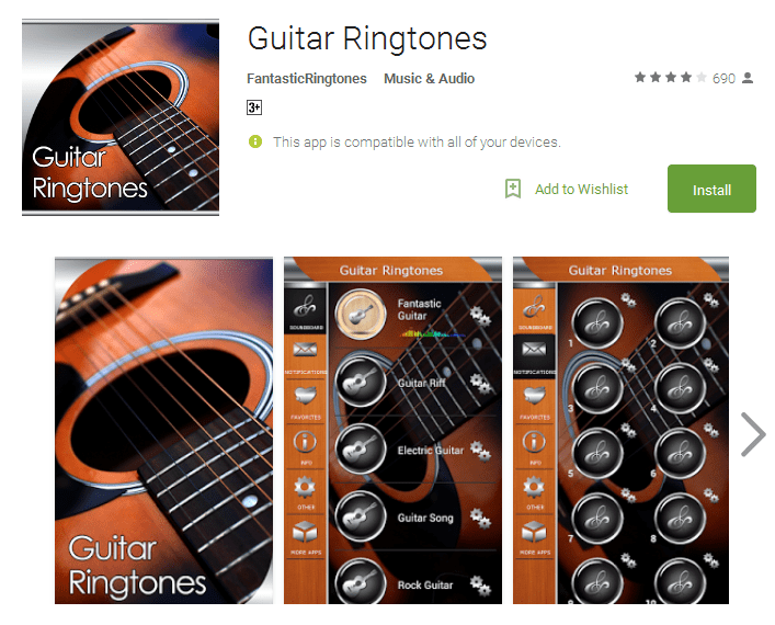 Guitar Ringtones Android Apps