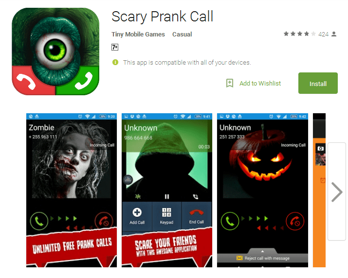 Scary Prank Call Android Apps