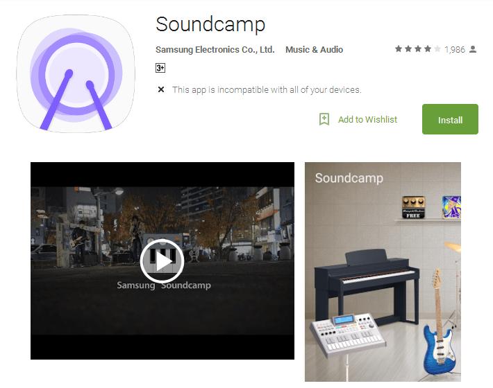 Soundcamp music making app
