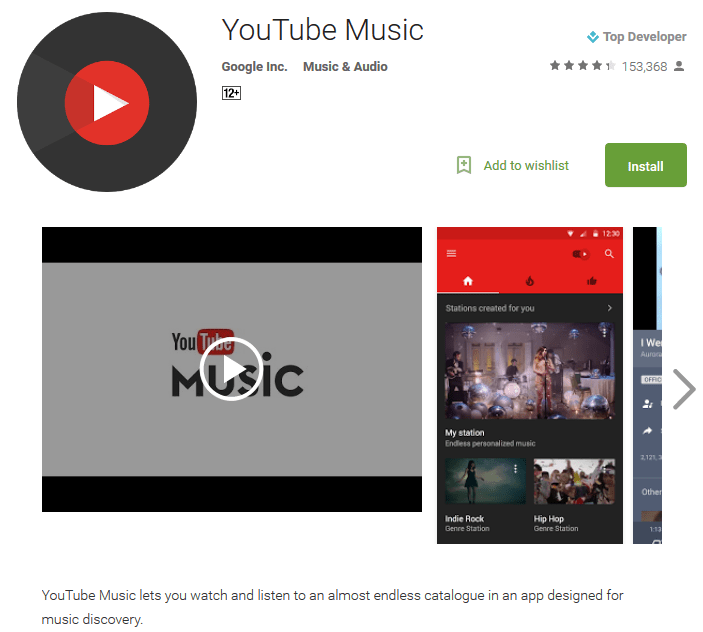 YouTube Music player online