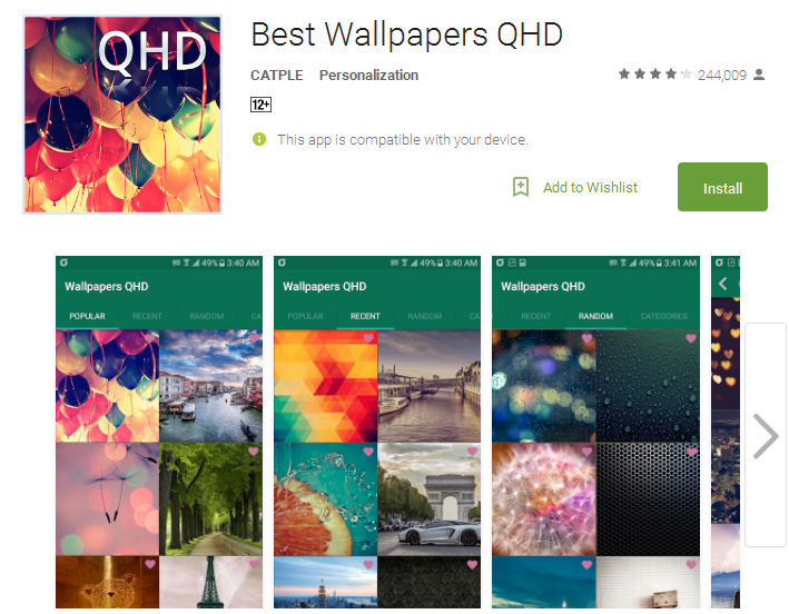 Best Wallpapers QHD Android Apps