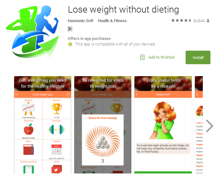 Lose weight without dieting App for Android