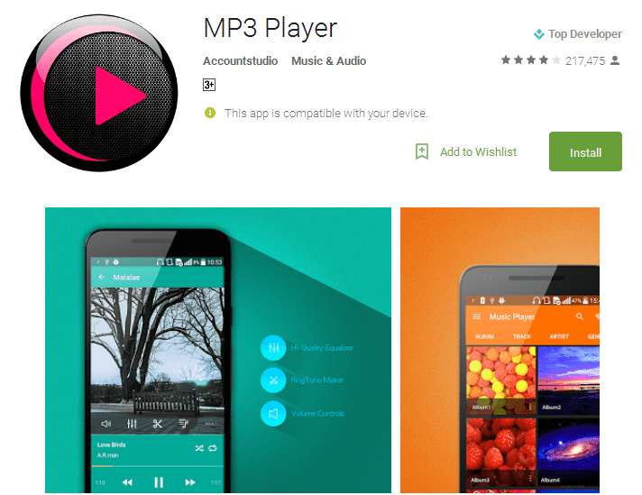 MP3 Player Android Apps