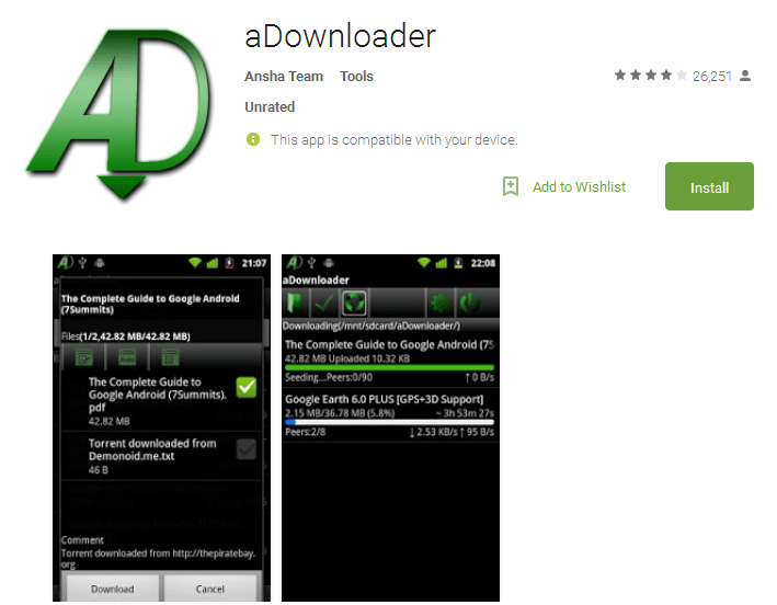 aDownloader Android Apps