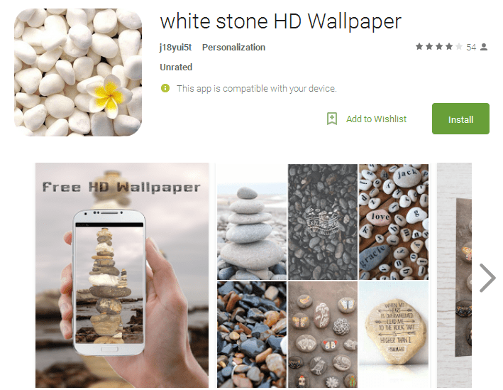 white stone HD Wallpaper Android Apps