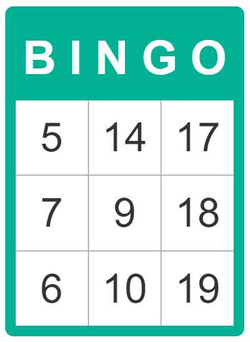 Bingo cards for kids