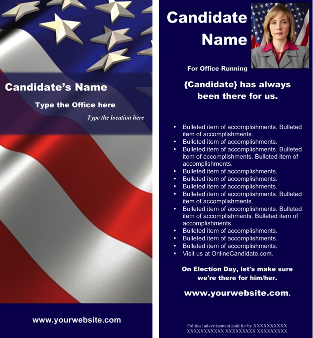 political brochure template