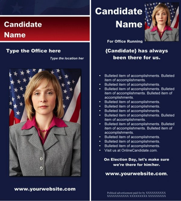 New Political Brochure Templates Available from Online Candidate