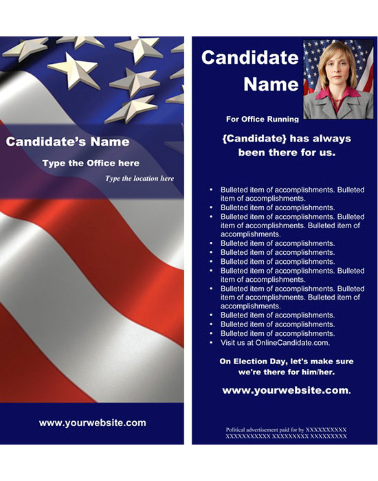 New Political Print and Web Templates Released - campaign flyer template