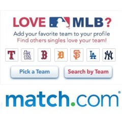 Match.com and Major League Baseball Team Up