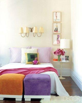 color block bedroom by elle