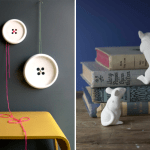 little white mice add a touch of whimsy to a bookshelf (available at shop 57)
