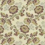 fabric beacon hill blooming roses in plum