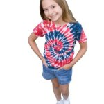 Fun to make tie dye shirts are popular with kids and adults.