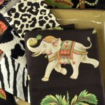 Animal prints liven up an eclectic decor.