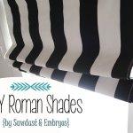 DIY Roman Shades Tutorial