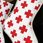 DIY Quilted Swiss Cross Stockings Tutorial