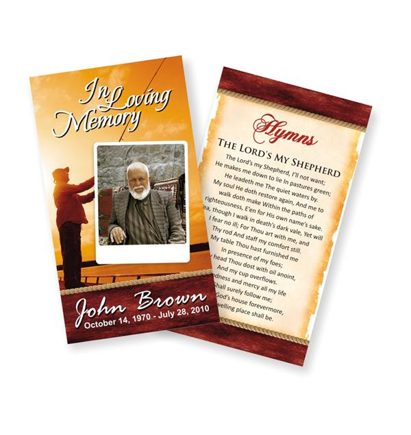 Free Printable Funeral Program Templates Online - Online Funeral - prayer card template free