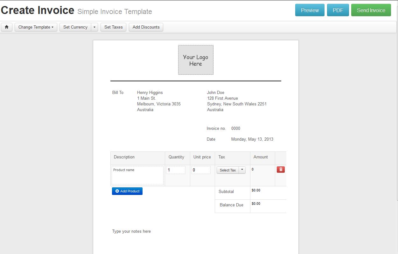 online invoice creator free