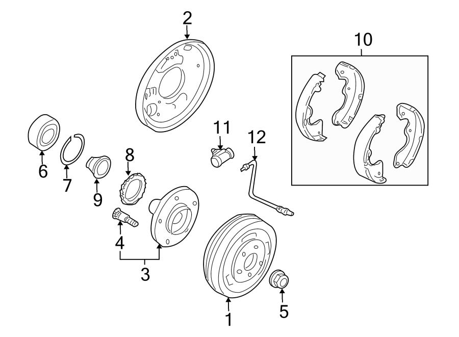 photos mazda tribute drum brake component part diagram car parts
