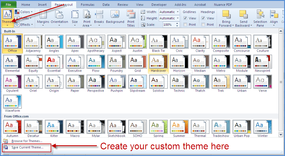 ms office 2010 themes