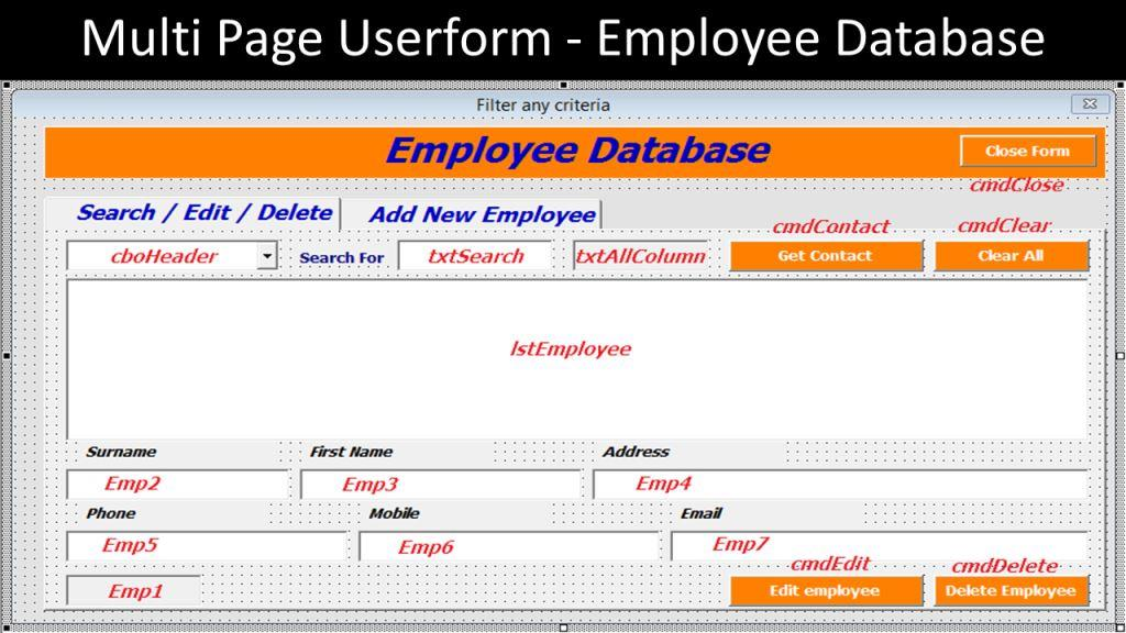 employees database excel