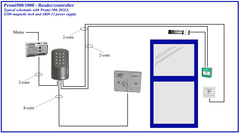 Access Control System Schematic Diagram Access Control Wiring