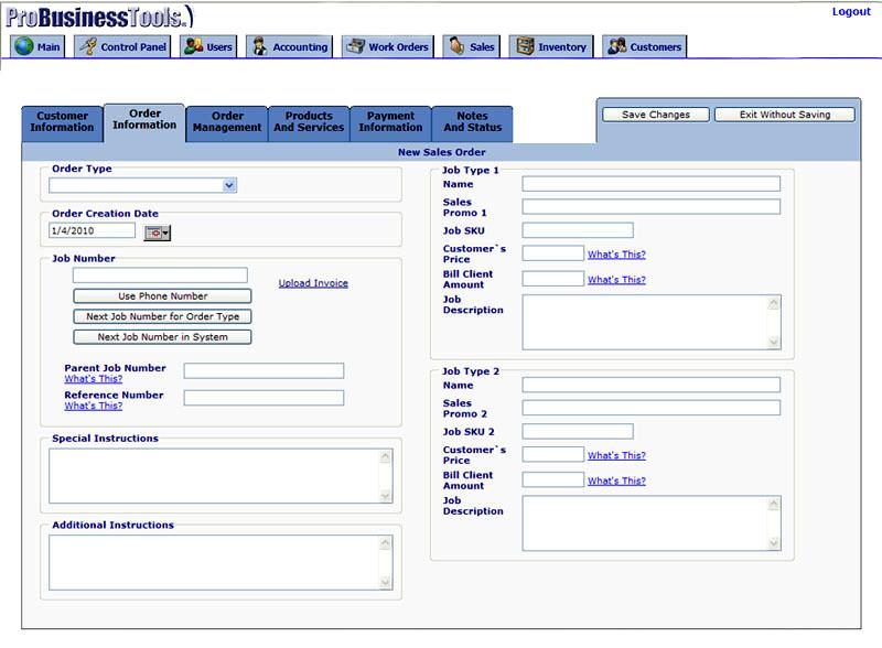 Work Order Management Software - ProBusinessTools