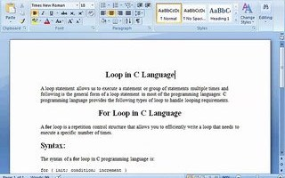 Loops and For Loop in C Language