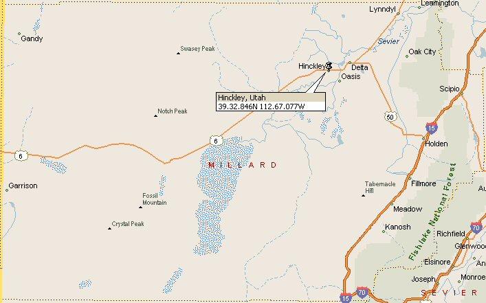 Hinckley, Utah Map 2