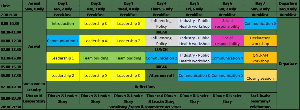 Program outline 2017