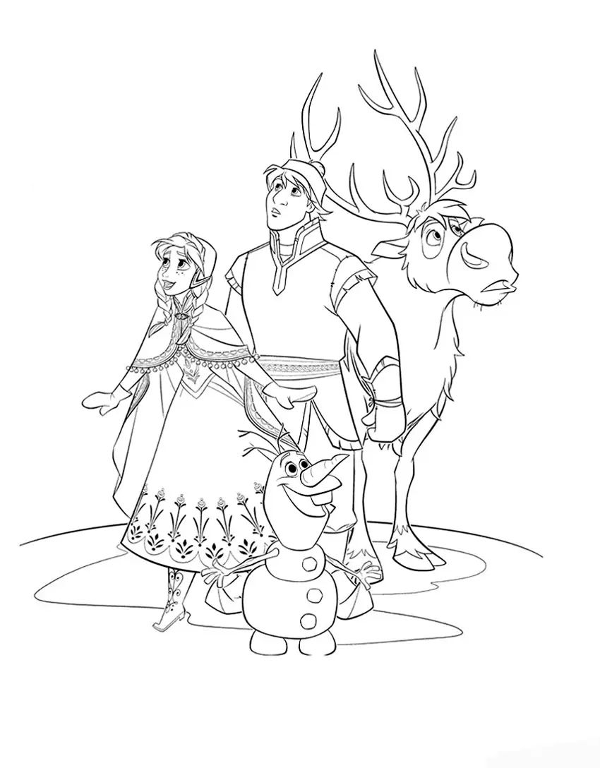 Disney coloring pages frozen only